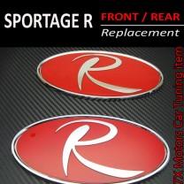 [7X] KIA Sportage R - R-Logo RED Replacement Emblem Set