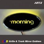 [ARTX] KIA New Morning / All New Morning - LED Mirror Tuning Emblem Set No.81