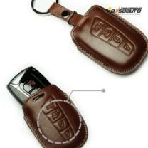 [KEINZ] Hyundai Santa Fe DM - Smart Key Leather Pouch Clam Key Holder