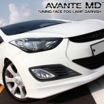 [TUNING FACE] Hyundai Avante MD - Fog Lamp Garnish Set (Black)
