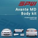 [SPW] Hyundai Avante MD - Full Body Kit Aeroparts Set